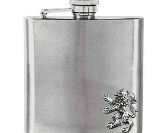 Lion Rampant 6oz Hip Flask