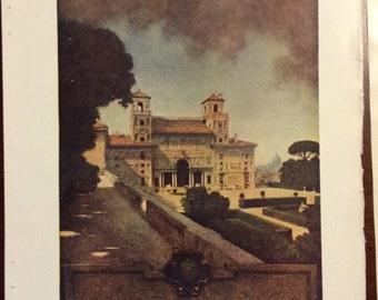 "Original Maxfield Parrish Prints - 1904 Century Magazine ""Italian Villas and Their Gardens"" by Edith Wharton"