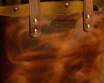 SmallTote by Hashtag Leatherworks