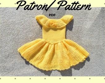 Crochet Pattern: Girls's Princess inspired dress