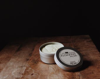Natural Body Butter | cocoa | grapefruit + tangerine | cedarwood, clove + patcouli | peppermint + lavender | unscented