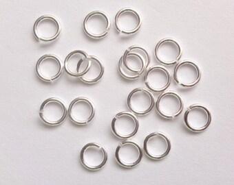 Sterling Silver Open Jump Rings 4mm 5mm 6mm 7mm PK10 OK50