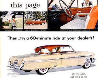 1953 Mercury Car Advertisement Vintage Vehicle Vroom White Hot Classic 50s Automobile Automotive Auto Garage Shop Mechanic Man Cave Wall Art