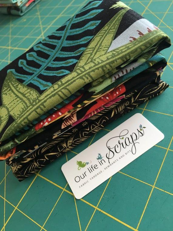 Back to Black Remnant Bundle-4 fabrics
