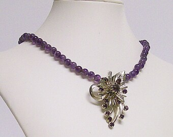 Necklace Amethyst and Vintage