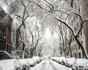 Winter Street - Winter Street Photo - Winter - City - Urban - Urban Photo - Digital Photo - Digital Download - Instant Download - Wall Decor