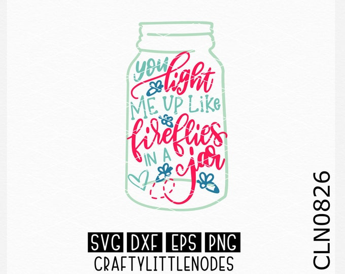 Lightening Bugs svg, Jar svg, Canning Jar svg, Hand Lettered svg, Hand Drawn svg, Hand Writting Svg, Original Svg, Cricut Files, Silhouette