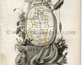 1823 Perrot Map of MEUSE,...