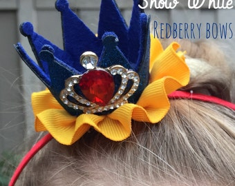 """SNOW WHITE CROWN with Rhinestone Crown Embellishment-approximately 2""""x2"""""""