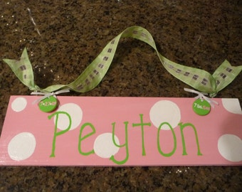 Hand Painted Baby Sign
