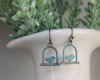 Antique Bird Earrings