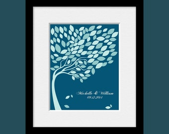 Guestbook Signature Tree, Wedding Guest Signature Tree, Alternative Wedding Guest Book, 100 Leaves Signature Tree, Guest Book Wedding Tree