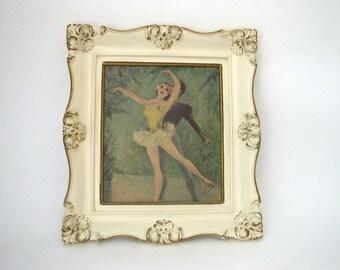 Shabby Chic 60s Ballerina Print