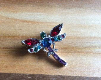 Colourful Dragonfly Brooch