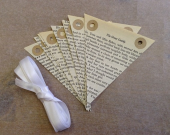 The Great Gatsby Bunting - Art Deco - Fitzgerald - Vintage Book - Book Bunting - Wedding Decor