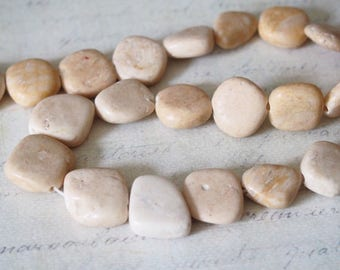 3 beige polyform turquoise beads approximately 15mm