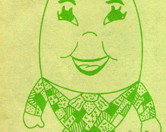 Instant Download Sewing Pattern Humpty Dumpty Pajama Bag