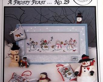 A Frosty Feast No. 29 Crossed Wing Collection By Paula Minkebige Cross Stitch Pattern Leaflet Undated