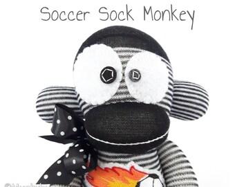 Soccer Sock Monkey • Free Customization