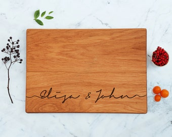 Custom Cutting Board Wedding Gift For Couple Script Names Gift Bridesmaid Gifts For Women Engagement Gift Best Selling Item Anniversary Gift