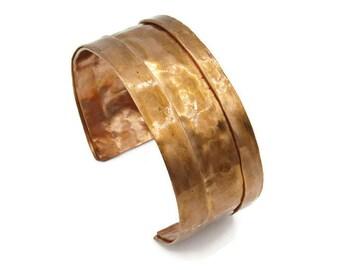 Large Copper Cuff Bracelet, Hammered Copper, Hammered Cuff, Copper Bracelet, Copper Jewelry