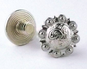 "Chicago Screws Antique Silver 3/16"" 10 Pack 3306-06"