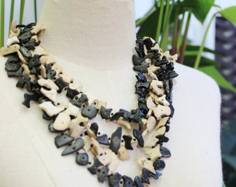 Coconut Shell Beads Necklace - CL1409-07