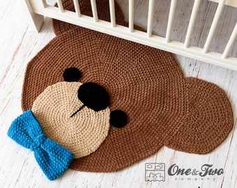 Teddy Bear Rug - PDF Crochet Pattern - Instant Download - Bear Useful Bedroom