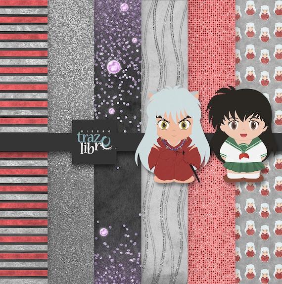 INUYASHA DIGITAL PAPER: Inuyasha clip art - digital clipart ...