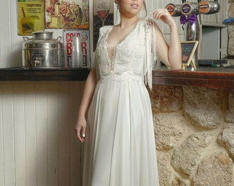 Bohemian style Wedding Dress from our 2018 bridal dress collection