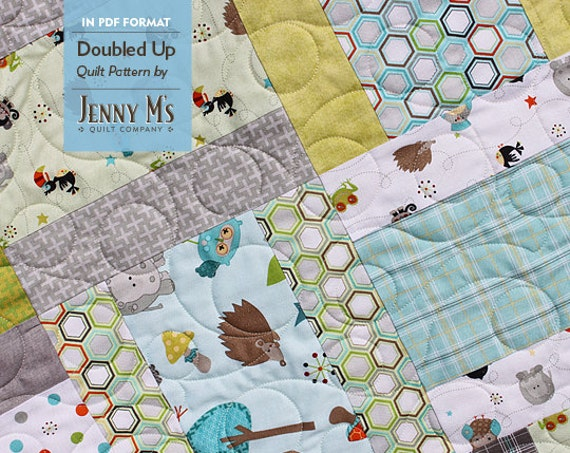 Doubled Up Pdf Three Baby Quilt Patterns For Beginning