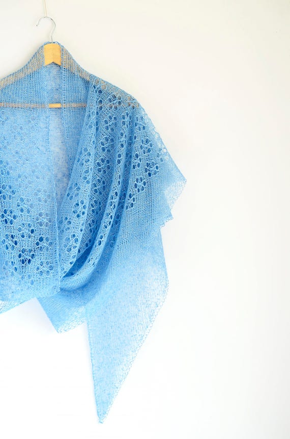 Estnische Schal. Haapsalu Schal. Lace-Schal. Schultertuch