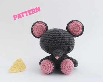Amigurumi Mouse Pattern, Crochet Mouse Pattern, Crochet Amigurumi Pattern, Crochet Animal Pattern, Amigurumi Animal Pattern, Crochet Pattern