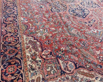 11x17 Persian Antique Heriz IRAN vintage serapi turkish oushak tabriz tribal