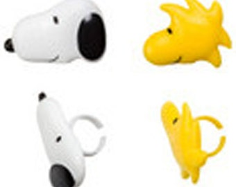 12 Snoopy and Woodstock Peanuts Cupcake Rings Toppers Party Favors