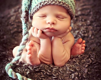 Newborn Baby Photo Prop Elf Hat