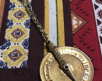 Love dial vintage necklace