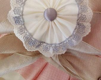 Headband Arras/communion ivory and grey