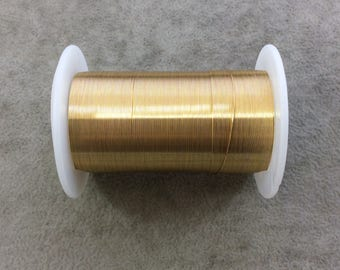 FULL SPOOL - 28 Gauge Beadsmith Brand Anti-Tarnish Gold Plated Copper Craft Wire - 40 Yards (120 Feet) - Great for Wire Wrapped Jewelry!
