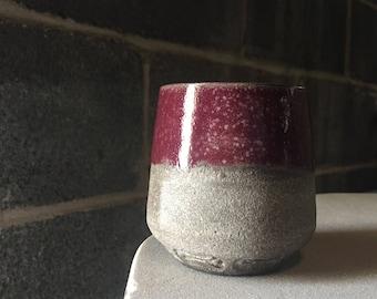 Small Grey/Magenta Cup - Valentines Day Gift - Mug