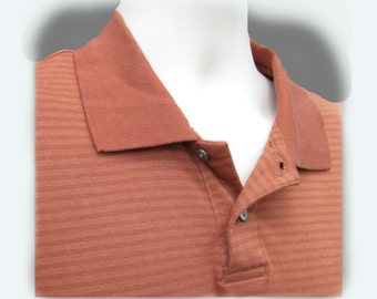 men's knit shirt, collared knit shirt, short sleeve shirt,polo shirt, size L (large),   # 19