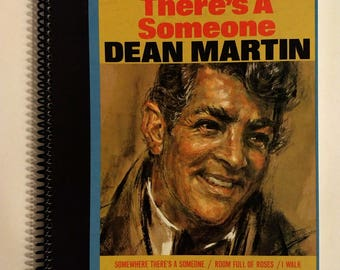 Dean Martin Sketchbook Hand Made from Upcycled Vinyl Record Album Cover