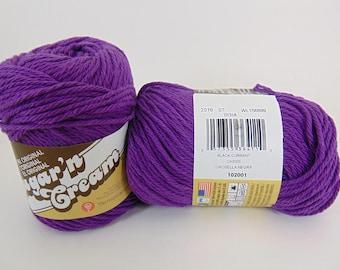 Black Currant - Lily Sugar'n Cream Solids Cotton Yarn