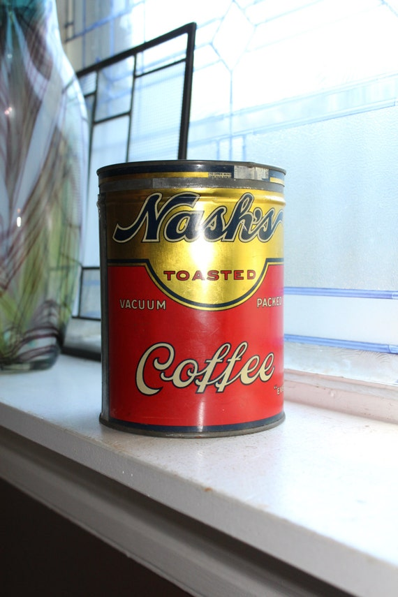 Vintage 1920s Nash's Coffee Tin 2 Lb
