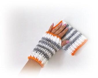 Crochet Fingerless Gloves, Womens gloves, Teen gloves, Girls gloves, Crochet mittens, knit mittens, Wist warmers