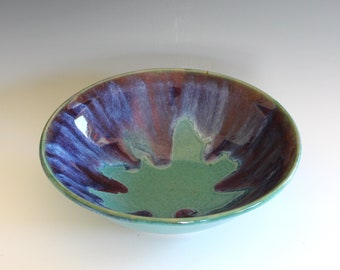 Handmade Ceramic Bowl, pottery bowl, wheel thrown bowl, stoneware bowl, ceramic serving bowl