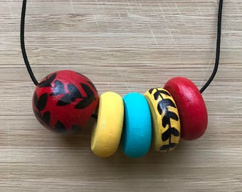 Handpainted Beaded Necklace