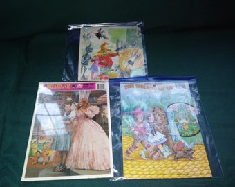 Vintage Wizard Of Oz (Puzzle lot of 3) Frame Tray Puzzle Sealed & 2 11X8 Puzzles