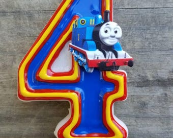 Train birthday candle, choo choo birthday
