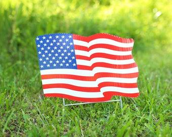USA Flag Yard Decoration, United States Flag, Yard Decor, Reflective